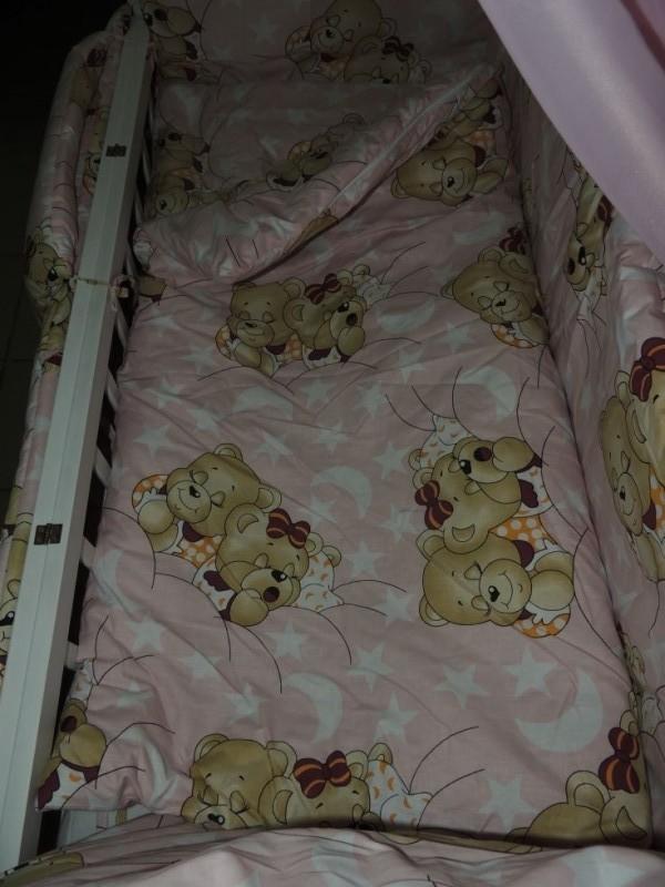Детское постельное белье для новорожденных, комплект из 9 предметов с балдахином! фото №14