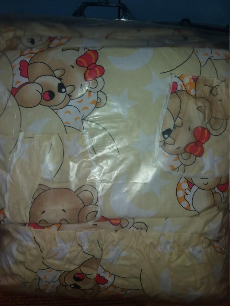 Детское постельное белье для новорожденных, комплект из 9 предметов с балдахином! фото №15