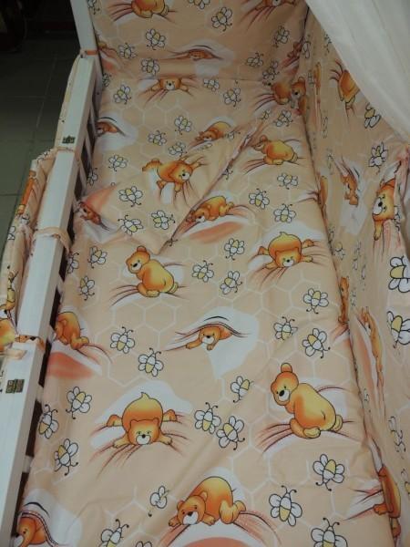 Детское постельное белье для новорожденных, комплект из 9 предметов с балдахином! фото №3