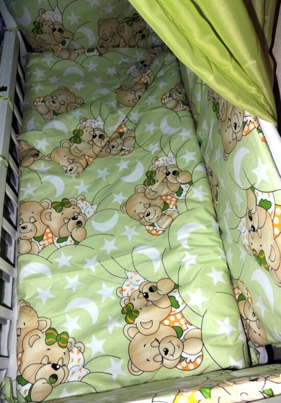 Детское постельное белье для новорожденных, комплект из 9 предметов с балдахином! фото №4