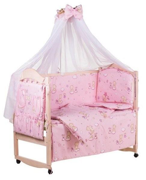 Детское постельное белье для новорожденных, комплект из 9 предметов с балдахином! фото №6