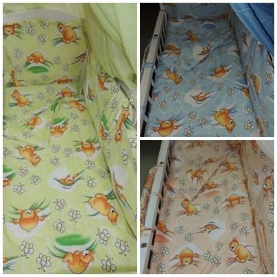 Детское постельное белье для новорожденных, комплект из 9 предметов с балдахином! фото №7