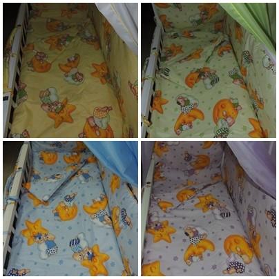 Детское постельное белье для новорожденных, комплект из 9 предметов с балдахином! фото №8