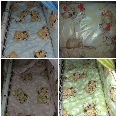 Детское постельное белье для новорожденных, комплект из 9 предметов с балдахином! фото №9