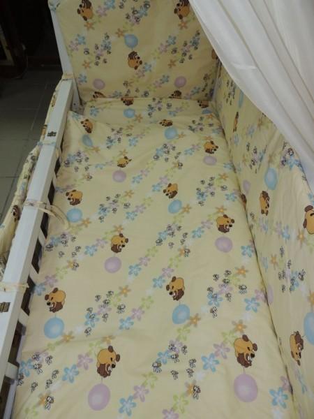 Детское постельное белье для новорожденных, комплект из 9 предметов с балдахином! фото №2