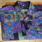 Рубашка с длинным рукавом, пёстрая, р.М