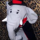Игрушка на руку, для кукольного театра на руку Слон - модник
