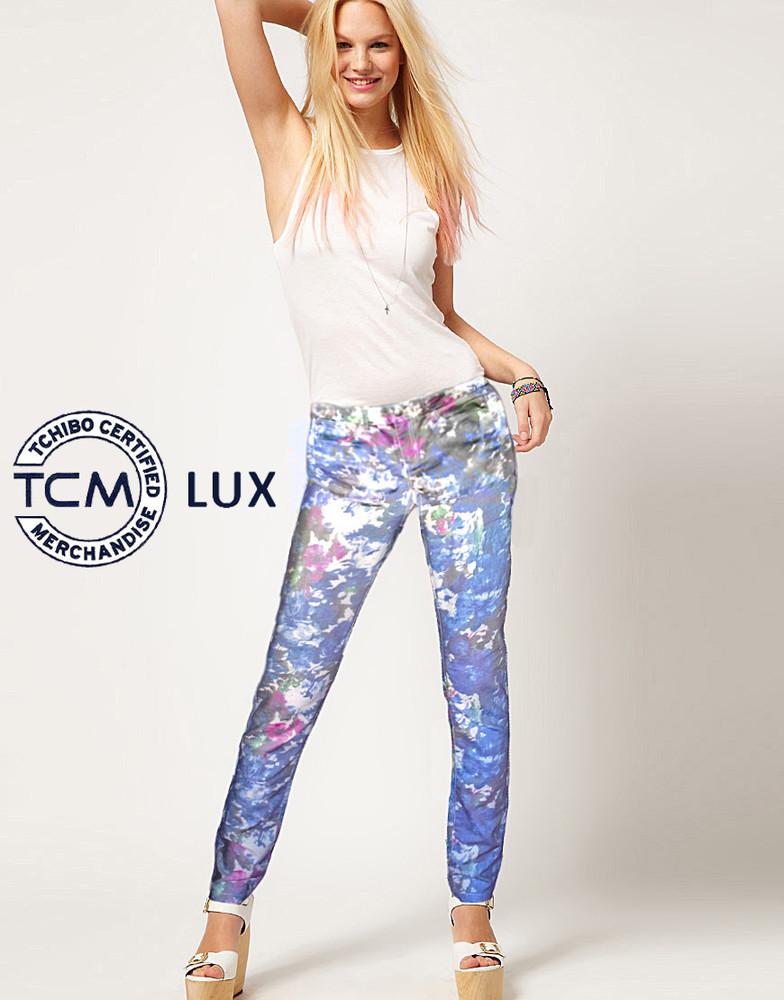 Яркие джинсы slim fit от ТСМ (Германия), евр. 38/40. Замеры фото №1