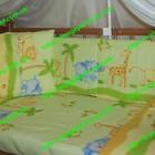 Детское постельное белье- Бортики, защита , охранка в детскую кроватку. Сафари