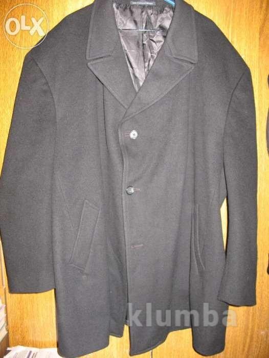 Полупальто очень большое,р.60-62,шерстяное,чёрное. фото №1