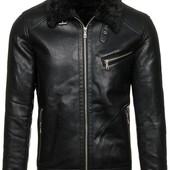 Мужская зимняя куртка дубленка на иск.меху