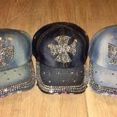 Распродажа! Количество ограничено!!Модные джинсовые кепки с камнями в наличии распродажа!!!!!