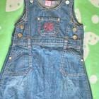 Классный джинсовый сарафан для девочки 1,5 -2 года ( можно до 3)