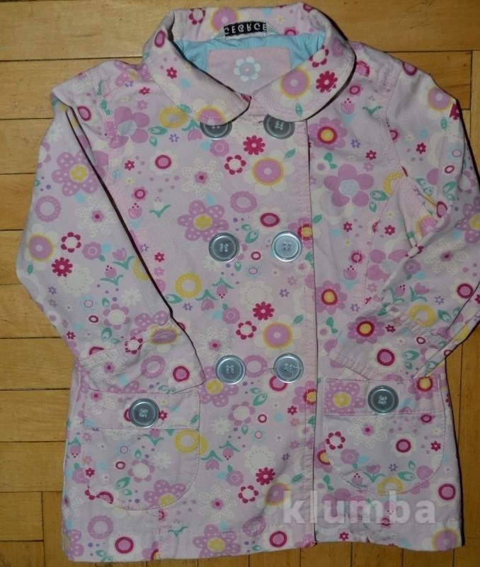 Обалденный плащ пальто ветровка для девочки 1- 2 года фото №1