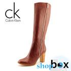 Сапоги кожаные Calvin Klein 38-38,5