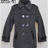 Стильное кашемировое пальто для мальчика, рост 116-146