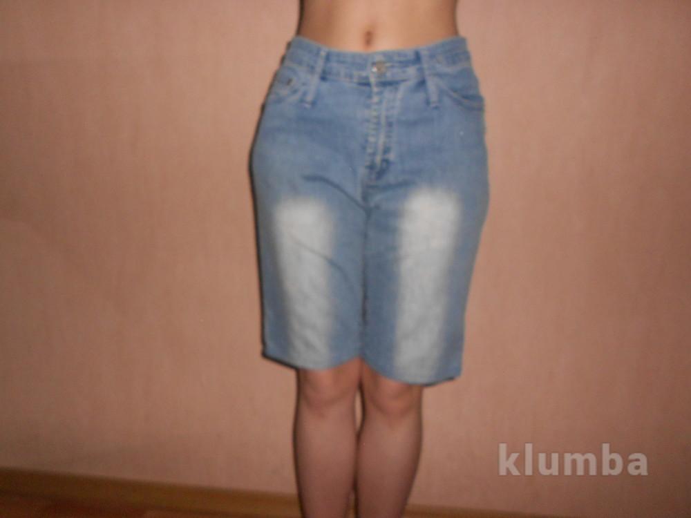 Шорты, джинсовые, наш 42,44 размер, евр.36,38,S,XS, 100% хлопок фото №1