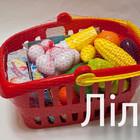 Корзина для супермаркета с продуктами,арт. 362,Орион,новая