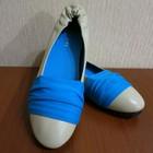 Натуральная кожа,яркие туфельки-сникерсы на 25 см