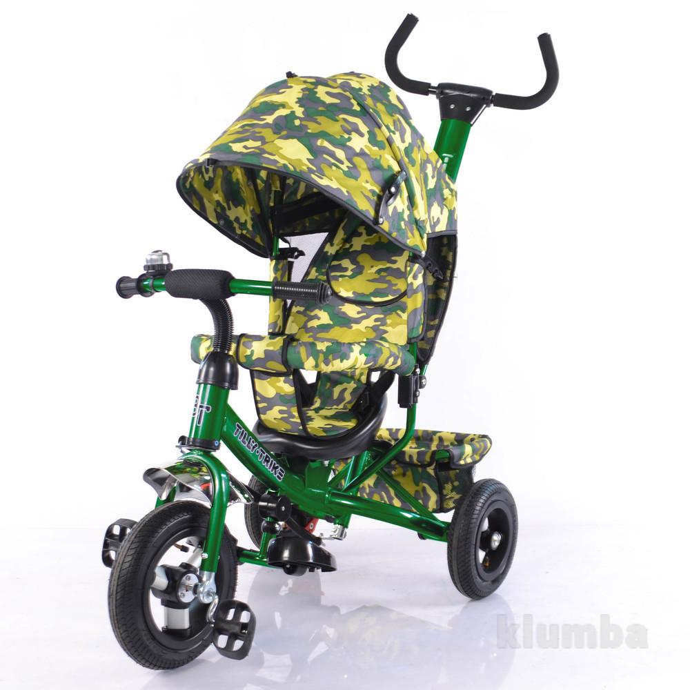 Тилли трайк камуфляж трехколесный велосипед tilly trike надувные колеса фото №1