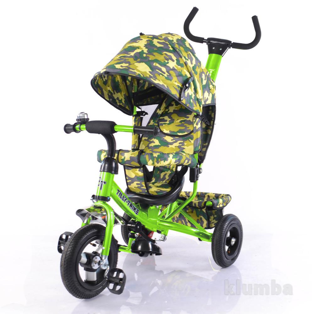 Тилли трайк камуфляж трехколесный велосипед tilly trike надувные колеса фото №2