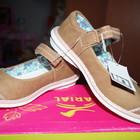 Туфли летние для девочки светло-коричневые новые размер 26-32