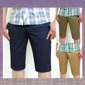 Новинка 2016! Джинсовые шорты из хлопковой ткани с врезными карманами. 3 цвета.