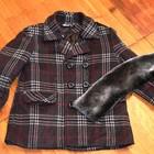 Шерстяное детское пальто на мальчика до 140 см