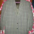 Пиджак ,р.50,хлопок,серо-зелёный,коротковатые рукава.Носить закатанными.