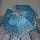 Зонтик зонт трость детский со свистком разные голубой с девочками