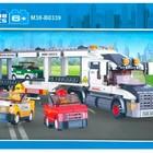 Конструктор M38-B 0339 Автовоз, грузовик фура, Sluban, городская серия