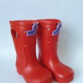 Детские дождевые сапоги из пены (ЭВА) для мальчика или девочки ( р. 20-27), код - Сапоги гусеница
