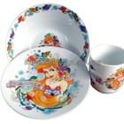 СП посуды для наших деток серии, набор деткой посуды Тачки, Маша, Русалочка