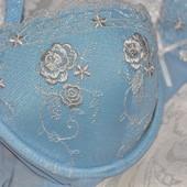 75В Нежный голубой с вышивкой бюстгальтер Bluebell bra