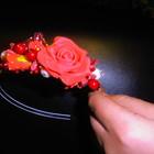 обруч с розами коралловый