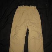 4-5 лет, зимние термо штаны лыжные полукомбинезон на лямках финские