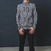 Спортивный мужской костюм принт 01366 (2 цвета)