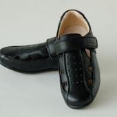 ТОМ.М арт.5231А черный  туфли для мальчиков (школа)