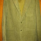 Пиджак вельветовый,р.48,светло-зелёный.