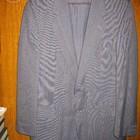 Пиджак шерстяной,серый,р.46,