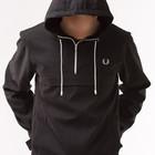 Куртка мужская осень - весна черная с капюшоном, анорак (весенние куртки мужские ветровки, осень-ве
