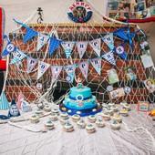 Детский Морской день рождения, оформление, украшение, декор