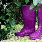 Резиновые сапоги Фиолетовые. Наложка