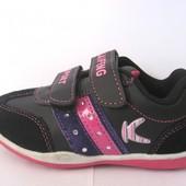 Кроссовки для девочки. KLF р.28 (арт.15119 черные)