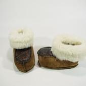 Пінетки-угги замшеві на зиму (13см)