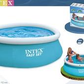 Круглый бассейн с верхним надувным кольцом Easy Set Pools 183х51см Intex 28101