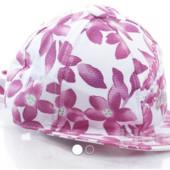 Распродажа -  Бейсболка белая в цветочный принт декорированная от MaxiMo (Италия) панама шапка банда