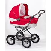 Коляска для новорожденных Inglesina Sofia (шасси ergo bike) luna red, красный с пепельным
