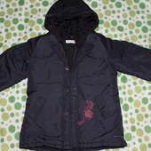 Дуже стільняча курточка + жилетка для дівчинки р. 104