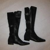 37-37,5 р-р, классные кожаные сапоги демисезонные, италия